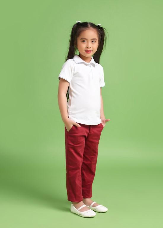 Quần kaki dài bé gái đỏ