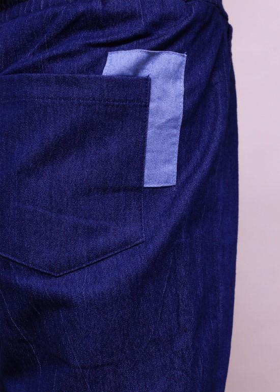 Quần jogger jean xanh đậm