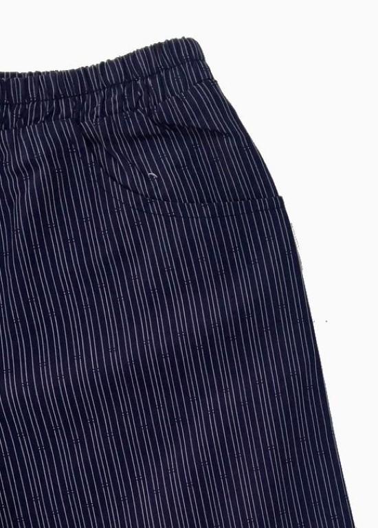 Quần short cotton sọc xanh đen bé trai
