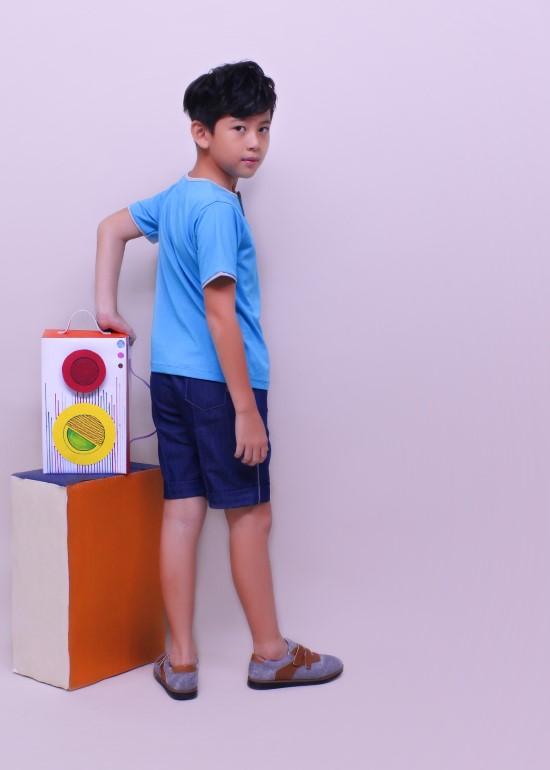 Quần short bé trai denim xanh đậm bé trai
