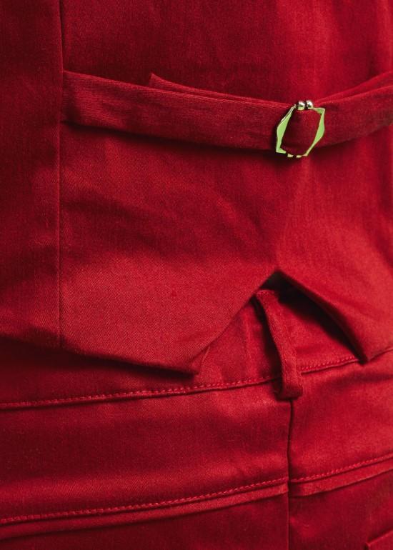 Quần yếm ngắn viền lưng đỏ đô bé trai
