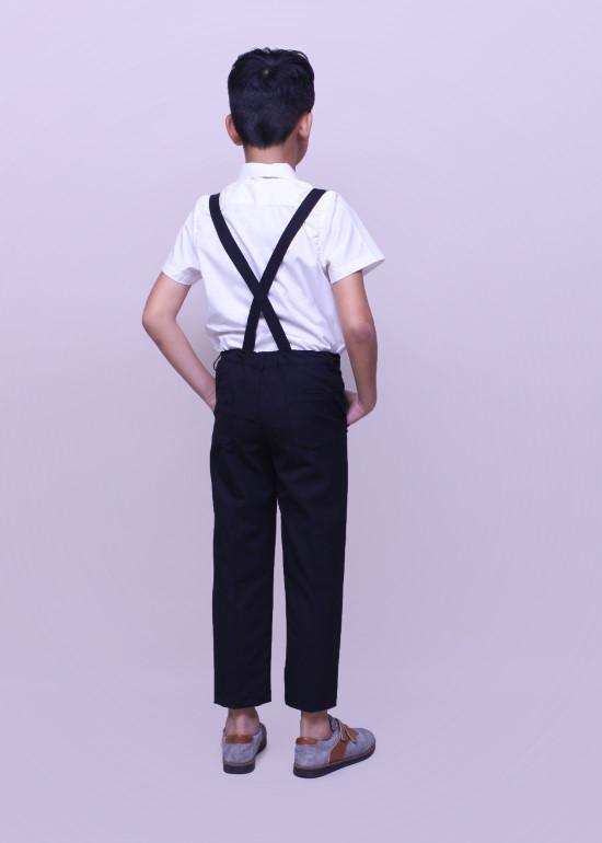 Quần dài bé trai yếm đen