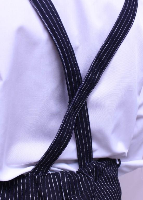 Quần yếm dài bé trai đen
