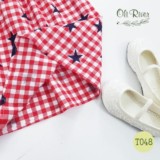 Váy sao hồng Oli River - T048
