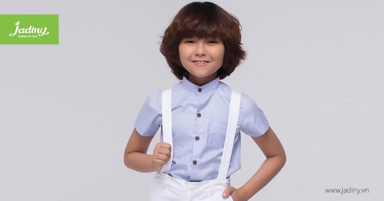 Thời trang áo sơ mi đẹp cho bé trai quấn hút các mẹ