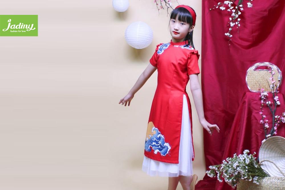 áo dài cách tân trẻ em nữ