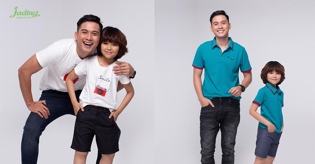 áo thun bố bố và con