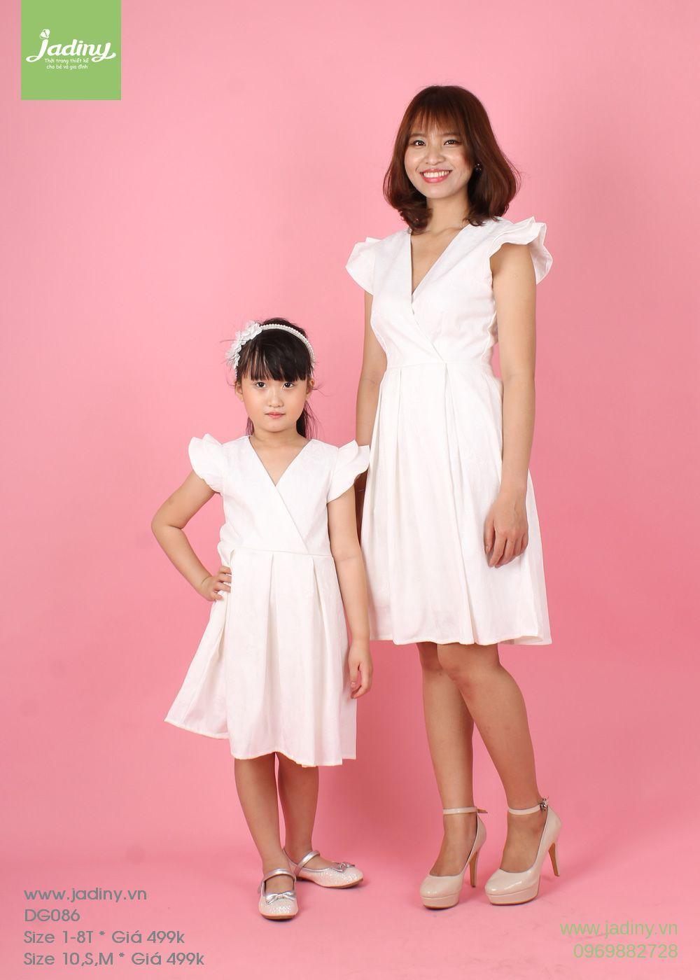 Váy đôi mẹ và bé mùa thu đông