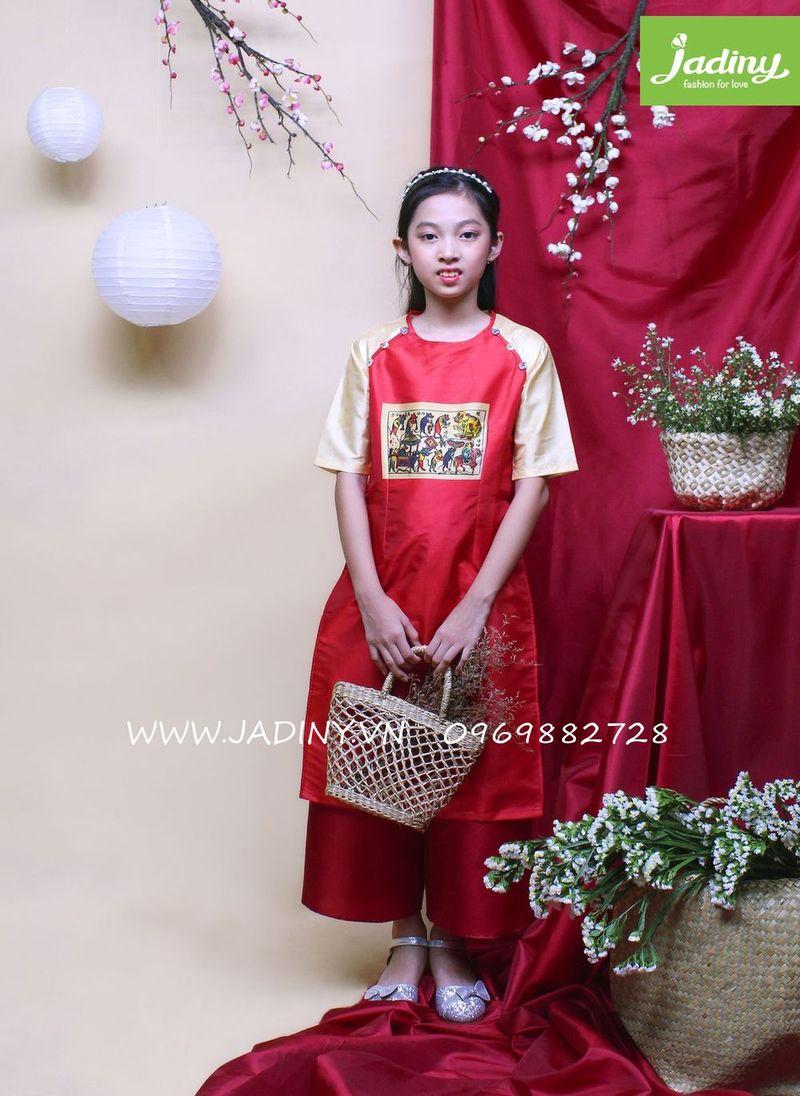 Áo dài đám cưới chuột chất liệu Taffeta