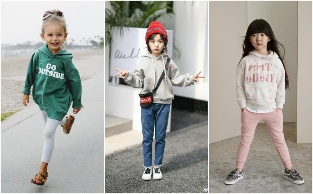 phong cách hoodie cho bé