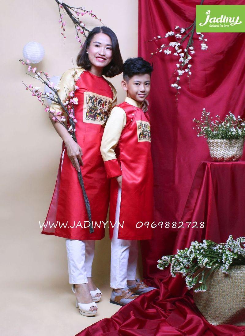 áo dài mẹ và bé trai