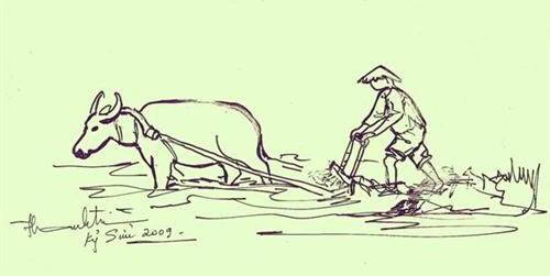 tranh tô màu nghề nông